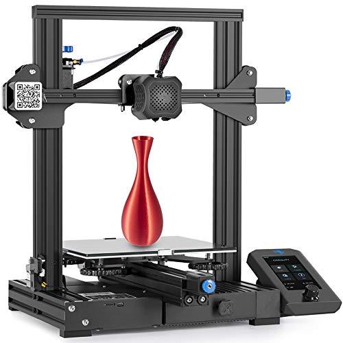 Creality Ender 3 V2 Impresora 3D, con Placa Base Silenciosa, Fuente de Alimentación Meanwell, Plataforma de Vidrio Carborundum, Tamaño de Impresión 220x220x250 mm