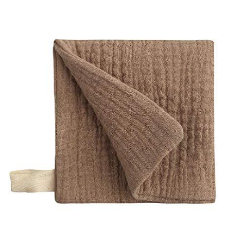 4 capas de gasa suave absorbente para eructos de los niños paño de limpieza pañuelo, pañuelo, recién nacido, toalla para la cara, baberos de alimentación toalla de baño básico