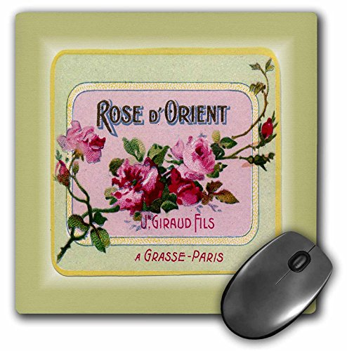 3dRose LLC 8 x 8 x 0.25 1900 French Ad for Perfume Mouse Pad (mp_80559_1)