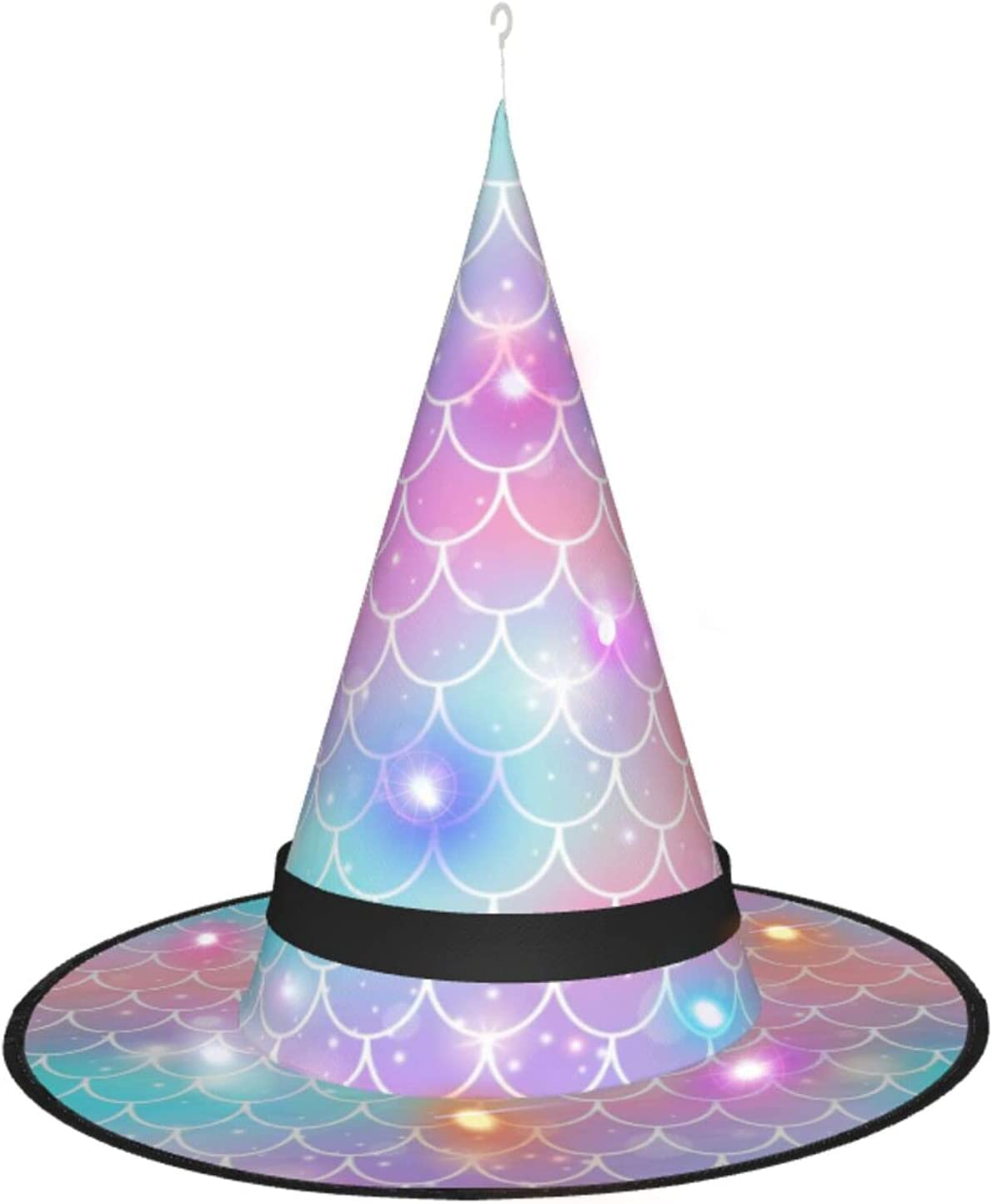 Max 45% OFF gift AJUNJUNPAI Rainbow Mermaid Scales Halloween Hat Colourfu Glowing