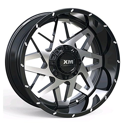XTREME MUDDER XM-313 A0100 20X10-12 5X135+5X139.7 C.B 110 BLACK MACHINE FACE
