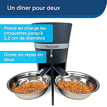 PetSafe Séparateur de Repas pour 2 Animaux pour les distributeurs de nourriture Smart Feed et Simply Feed. 2 bols en matériel sans BPA, va au lave-vaisselle