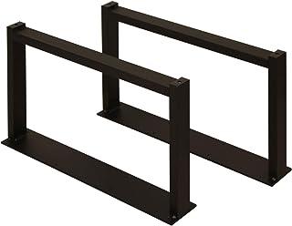 サンニード テーブル 脚 パーツ ローテーブル用レッグ2脚:LTLG2-BK 2個1組 奥行60 高さ35cm アイアン ブラック 黒