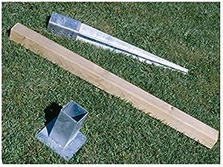 comprar comparacion Intermas M100358 - Poste de madera valla clasica 7 x 7 x 100 cm