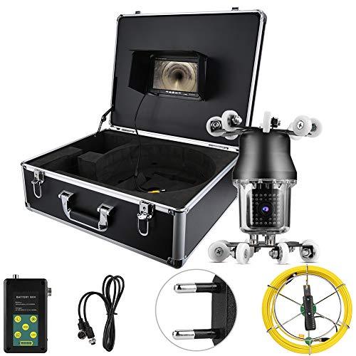 Weitwinkel-Rohrkamera, 17,8 cm, 50 m, 360 ° Abwasserkanal, industriell, Endoskop, IP68, 38 LEDs, Inspektionskamera, 100–240 V (EU)