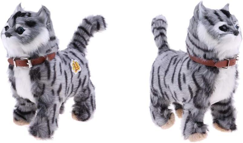B Baosity 2X Electronic Pet NEW Cat T Meow Stuffed Toy Plush Walking Max 79% OFF