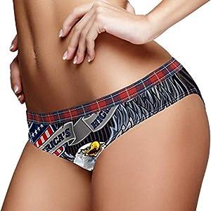 Bennigiry American Eagle con banderas de Estados Unidos, calzoncillos elásticos, ropa interior de algodón suave, para mujer, S multicolor XXL