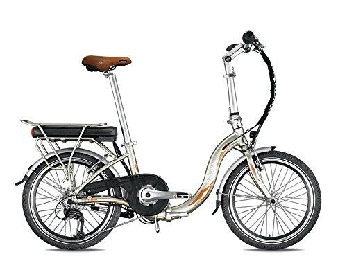 Bicicletta elettrica pieghevole miesty bello oro–Batteria: Li-Ion Panasonic 36V, 14,5Ah–autonomia: 140km–Peso: 20,3kg su Amazon