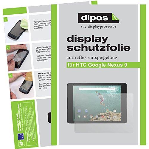 dipos I 3X Schutzfolie matt kompatibel mit HTC Google Nexus 9 Folie Bildschirmschutzfolie