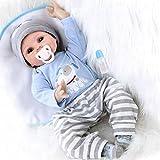 ZIYIUI Reborn Dolls Baby Boy 22 Inches Soft Silicone Natural Vinyl 55cm Hecho a mano Blue Eye Reborn...
