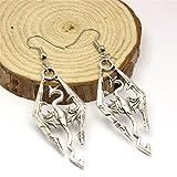 Jewelry tycoonSkyrim Inspired Earrings Dinosaur Earrings Skyrim Elder Scrolls Dragon Ear Studs Vintage Earrings for Men for Women