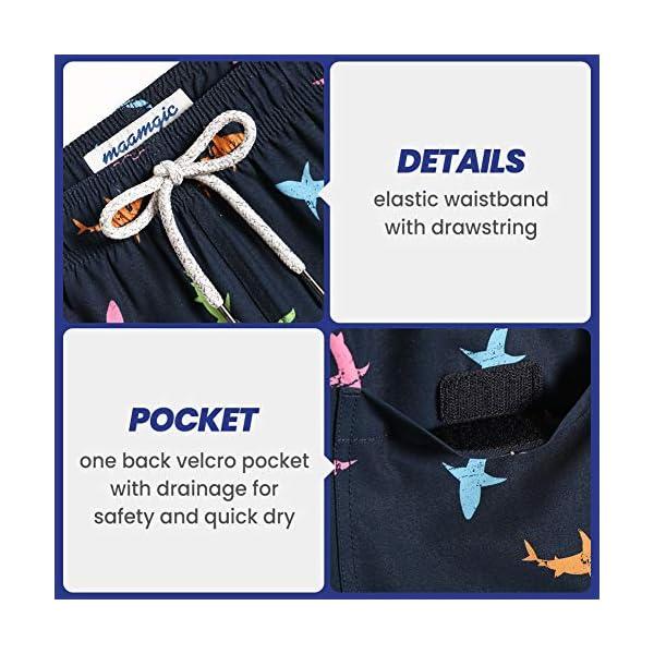MaaMgic Mens Quick Dry Solid 4 Way Stretch Swim Trunks Mesh Lining Swimwear Bathing Suits