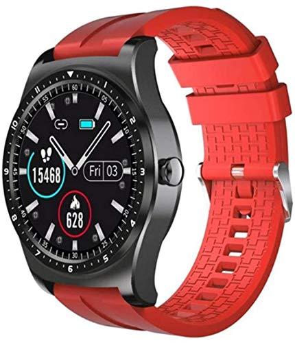 TYUI Reloj Inteligente Hombres Mujeres Fitness Tracker Ip68 Vida Impermeable Monitor de Frecuencia Cardíaca Recordatorio de Mensaje de Llamada para iOS Android-Rojo
