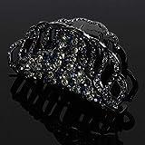 1 horquilla de pelo con diamantes de imitación, hecha a mano, resistente a caídas, ideal para el baño, para mujeres y niñas Lgy