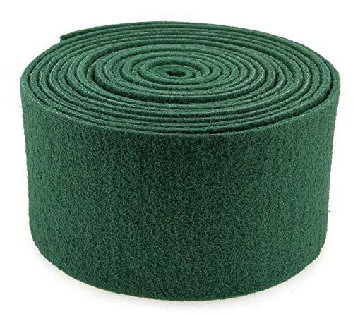 PAMEX - Rollo Estropajo Fibra Abrasiva 15 Centímetros 6 Metros (Verde)