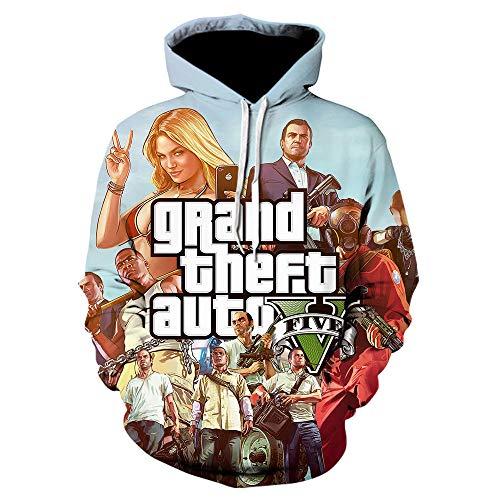BAOGEGEDE Grand Theft Auto 3D GTA 5 Fancy Pullover Langarm Street Style Hooeds Kostenlos Unisex Gta5 Spiel Sweatshirt-We-535_XL