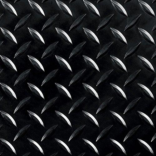 8' 2' Wide Diamond Plate Pattern RV Flooring Black- 20 Foot Section