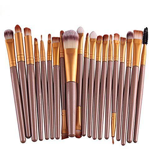 Demarkt 20 Stück/Set Make-up Pinsel-Set (Golden)