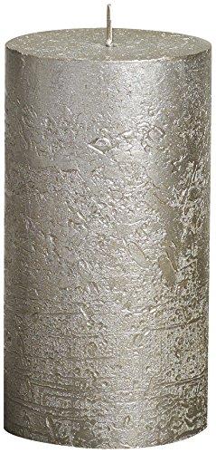 Bolsius Rustikale Metall-Stumpenkerze, 13 cm x 7 cm, Champagner