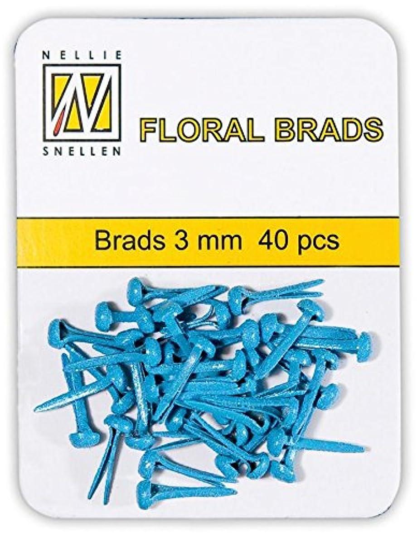 Nellie's Choice Glitter Brads, Blue