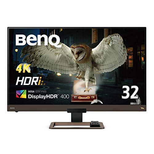 BenQ 32インチ4K高画質&高音質モニター EW3280U(32インチ/4K/IPS/DisplayHDR400/HDRi/2.1chスピーカー/リモ...