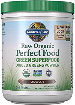 Garden of Life Raw Organic Green Superfood Juiced Greens Chocolate Powder