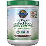 Garden of Life Raw Organic Perfect Food Green Superfood Juiced Greens Powder - Chocolate, 30 Servings (Packaging May Vary) - Non-GMO, Gluten Free, Vegan Whole Food Dietary Supplement, Plus Probiotics, 10.05 ounce