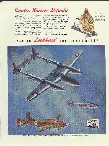 Courier Warrior Defender Lockheed Lodestar P-38 Lightning Hudson ad 1941