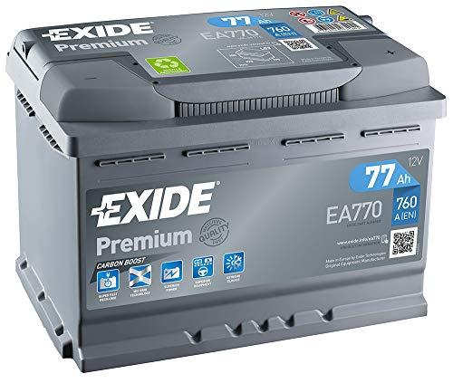 EA 770 Exide Premium Carbon Starterbatterie 12V 77 Ah