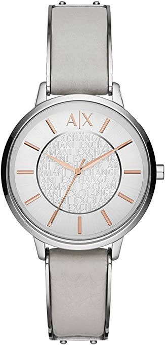 Armani Exchange Women's AX5311 White Leather Watch
