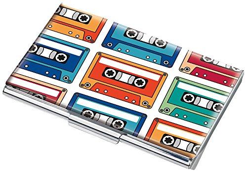 TROIKA Music Tape Visitenkartenetui - #CDC10-A132 - Mehrfarbig - Metall - Motiv: Music Tape - passend für ca. 11 Karten - das Original von TROIKA