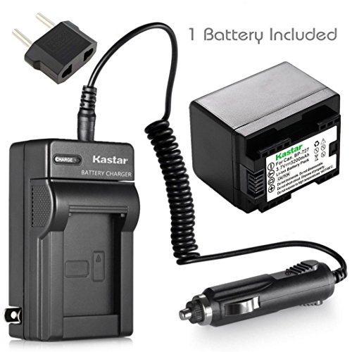 Kastar Battery 1-Pack + Charger for Canon BP-727, BP-718, BP-709, VIXIA HF M50, HF M52, HF M500, HF R30, HF R32, HF R40, HF R42, HF R50, HF R52, HF R60, HF R62, HF R300, HF R400, HF R500, HF R600