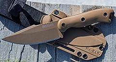 Blade length: 4.56 in Overall length: 9.375 in Blade material: 1095 Cro-Van Handle material: Ultramid Kydex sheath