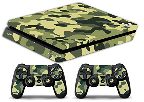 Skin PS4 SLIM HD - CAMUFLAJE CLÁSICO - limited edition DECAL COVER ADHESIVO playstation 4 SLIM SONY BUNDLE