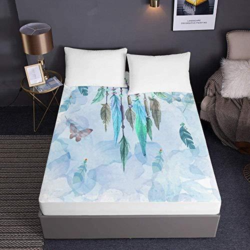 Bedclothes-Blanket sábanas Ajustables,Sábanas Ajustables Impresas para Cama Individual Doble King Sábanas 3D Bolsillo Profundo 30cm - Microfibra Suave Fácil Cuidado-El 120x200x30cm_4