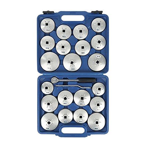 Turefans 23PCS, kit de Filtre à Huile, clés à Filtre à Huile, kit d'enlèvement de Douille de clé, Alliage d'aluminium