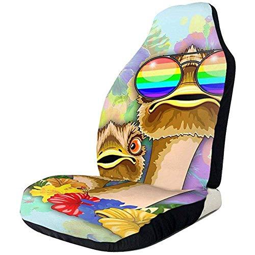 2PCS Autositzbezüge Strauß Hawaii Fashion Funny Dudes Protector Kissen Universal...