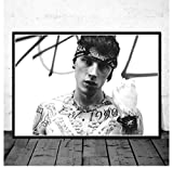 shifangtrade Póster de Lienzo Machine Gun Kelly Cantante de Hip-Hop Star Music Posters e Impresiones Pintura Arte Lienzo Pintura Decoración Mural 50 * 70Cm Sin Marco