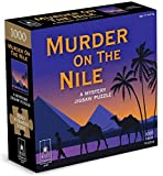 University Games 33123 Murder on The Nile 1000 Piece Mystery Jigsaw Puzzle, Multi-Colored