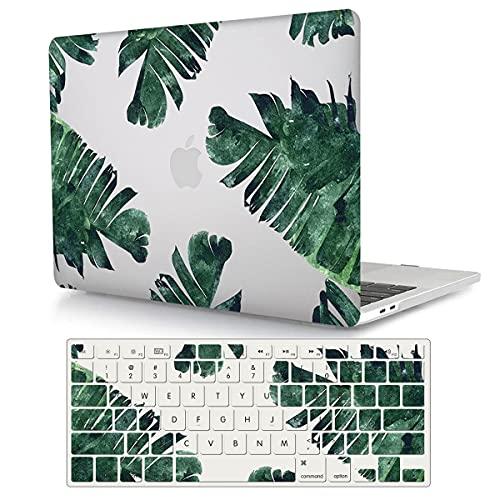 ACJYX Compatible con MacBook Air de 13 pulgadas (modelos: A1369 y A1466, versión antigua 2010-2017), 2 en 1 paquete de carcasa rígida de plástico y cubierta para teclado, hoja