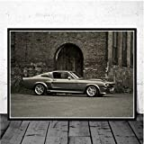 Ford Mustang Gt500 Eleanor 1967 Retro Muscle Car Race