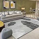 Alfombra moderna para salón (80 x 120 cm), para dormitorio, salón, de pelo corto y...