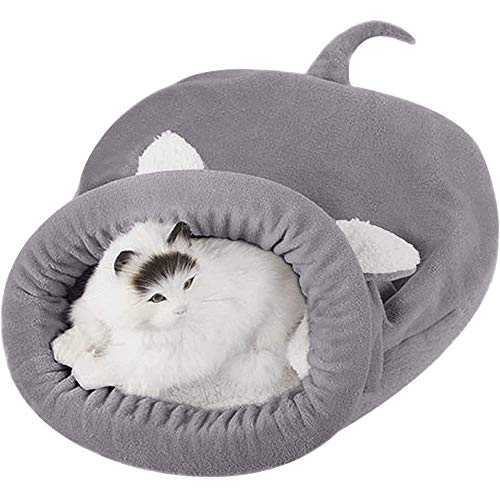 Haustier katze höhle bett gemütlich hund kätzchen haus haustier katze schlafbeutel welpen kuschelig sack matte warm haustier bett matte kissennest tragbare katze welpen schlafende tasche teppiche falt