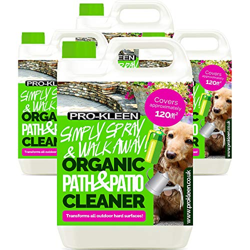 Pro-Kleen Simply Spray and Walk Away Organic Path and Patio Cleaner Concentrate Fluid (20 Litres) Safe for Pets and Children even when Wet Use on Patios, Fencing and Decking (Makes 80 litres)