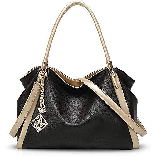 Paquete, Bolsa de tendencia Bolsos de moda, bolsas de hombro, bolsas de mensajero, bolsas de señoras, bolsas grandes de cuero de la PU, bolsas de cuero suave de gran capacidad para mujeres de mediana