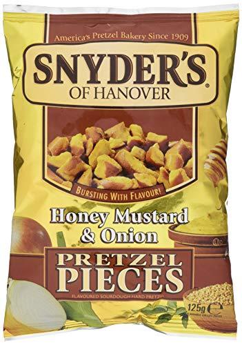 Snyder's Pretzel Pieces – Honey Mustard und Onion, Leckeres Bretzelgebäck – Salziger Knabberspaß - 1er Pack (1 x 125 g Tüte)