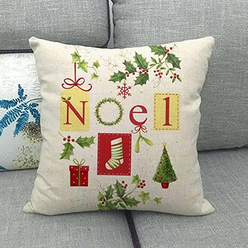 Especial de Navidad para el hogar cálido sofá de Lino Coche cojín/Funda de Almohada 822-19_45 * 45cm