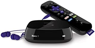 Roku 3 Streaming Media Player with Voice Search (Renewed)