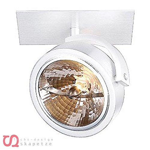 SLV Einbau-Strahler KALU 1, dreh- und schwenkbar | Dimmbare Deckenleuchten, Beleuchtung innen | LED Spots, Fluter, Deckenstrahler, Decken-Lampen, Einbau-Leuchten | 1-flammig, GU10 QR111, EEK E-A+