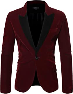 TANLANG Men Business Casual Blazer Jacket Slim Fit One Button Solid Suit Separate Stylish Jacket Wedding Party Outwear Coat